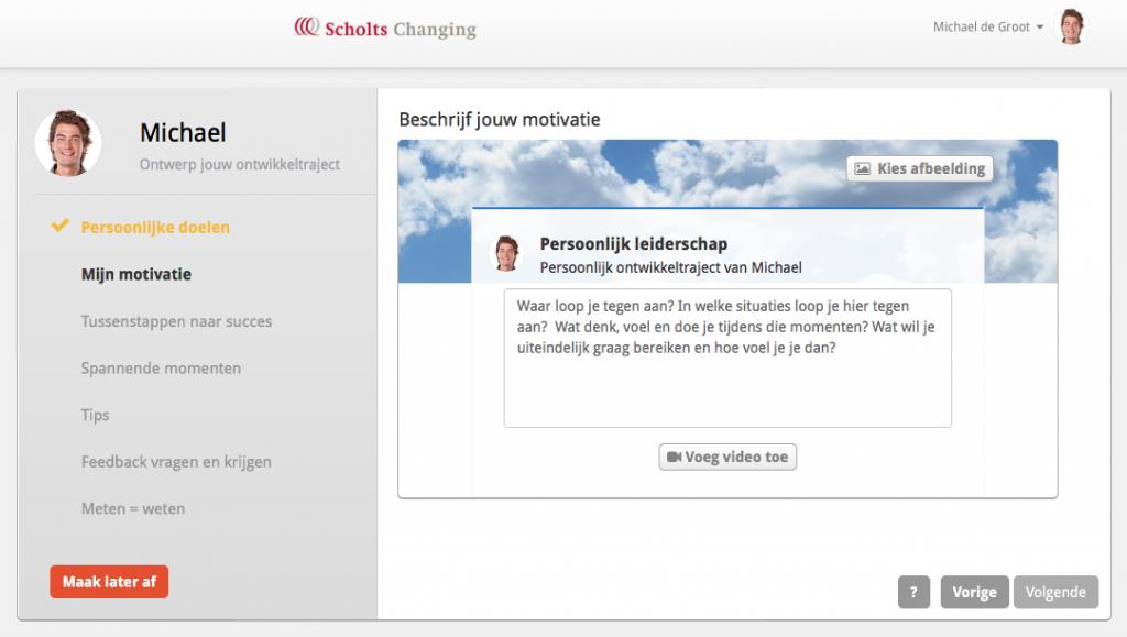 Online leren met behulp van de Changing Challenger